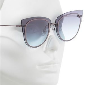 51826c45a5 DIFF x Demi Lovato Rimless Cat Eye Sunglasses